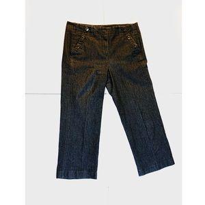 Sandro dark wash denim cropped pants Straight Leg